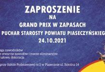 Zaproszenie na zawody zapaśnicze 24.10.2021r.