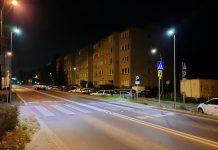 Doświetlamy kolejne przejścia dla pieszych. Na zdjęciu przejście dla pieszych przy ul. Wojska Polskiego.