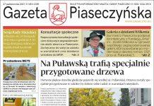 Pierwsza strona Gazety Piaseczyńskiej nr 6/2021