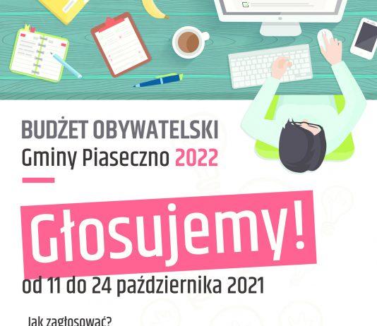Budżet Obywatelski Gmina Piaseczno 2022 - głosujemy od 11 do 24 października 2021 roku na bo.piaseczno.eu