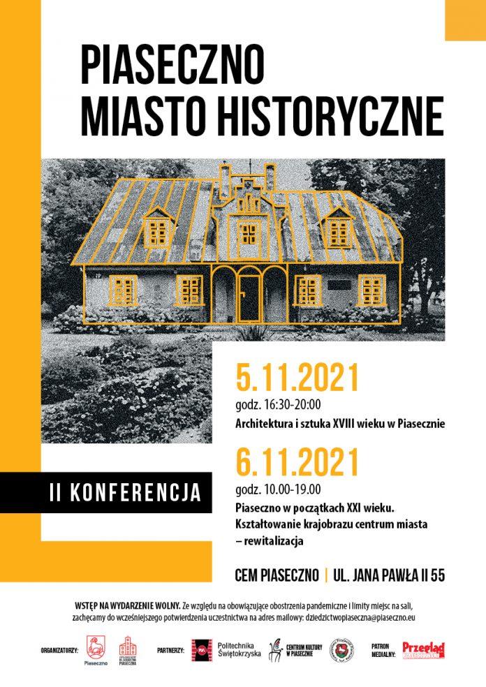 Plakat wydarzenia II Konferencja PIASECZNO MIASTO HISTORYCZNE