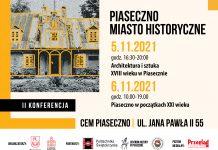 Banner Konferencja historyczna Piaseczno miasto historyczne
