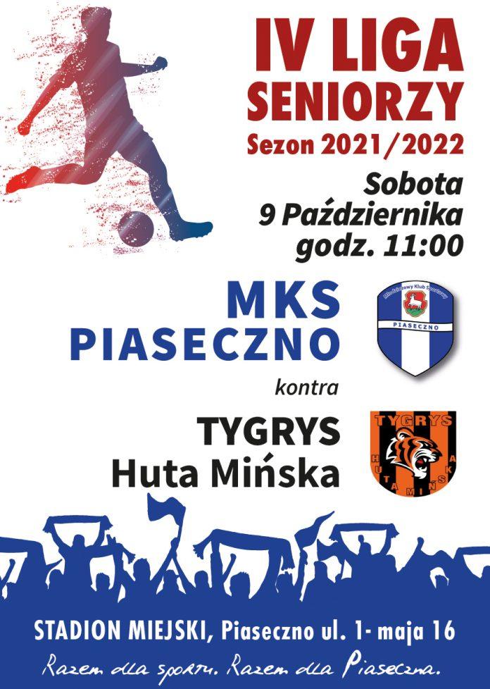 Plakat wydarzenia Mecz MKS Piaseczno vs Tygrys Huta Mińska