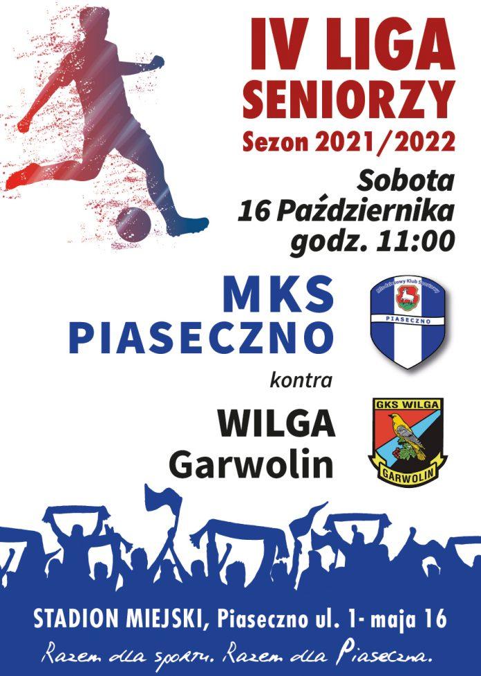 Plakat wydarzenia Mecz piłki nożnej MKS Piaseczno vs Wilga Garwolin
