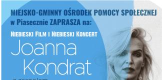 Plakat wydarzenia Niebieski koncert w wykonaniu Joanny Kondrat i Krzysztofa Antkowiaka