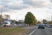 GDDKiA wprowadza nową organizację ruchu na przebudowywanym odcinku ul. Puławskiej. Na zdjęciu ul. Puławska na przebudowywanym odcinku.