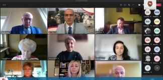 Screen XLIV sesja online Rady Miejskiej w Piasecznie